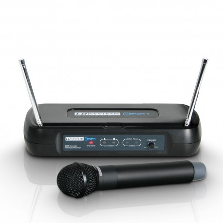 Wireless Microphone System with Dynamic Handheld Microphone 864 500 MHz -  Haninge Musik